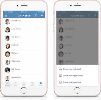 Civimobile feature - Contacts